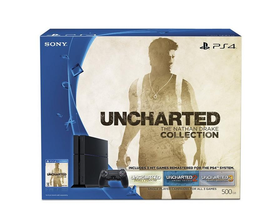 PlayStation 4 500GB Uncharted: The Nathan Drake Collection Bundle (Physical Disc)