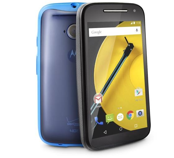 Verizon Wireless Prepaid - Motorola Moto E 4G with 8GB Memory No-Contract Cell Phone with Blue Grip Case - Black