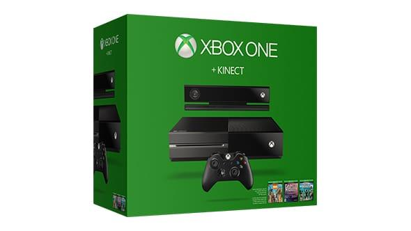 $349.99 Xbox One 500GB Console with Kinect +3 Game Bundle