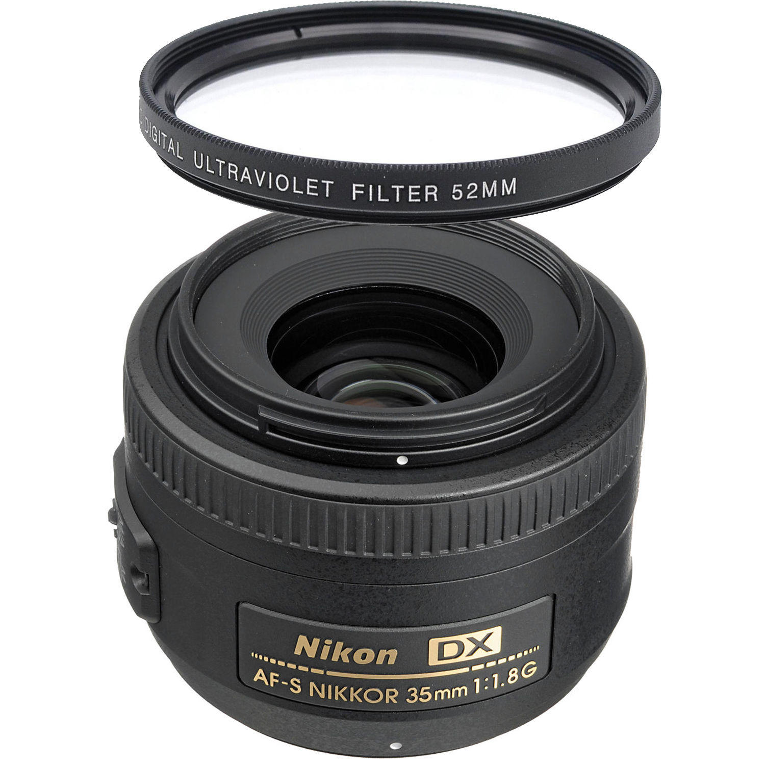$149.00 Nikon AF-S Nikkor 35mm f/1.8G DX Lens + UV Filter