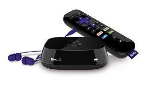 $89.99 Roku 3 Streaming Media Player (4230R) with Voice Search (2015 model)