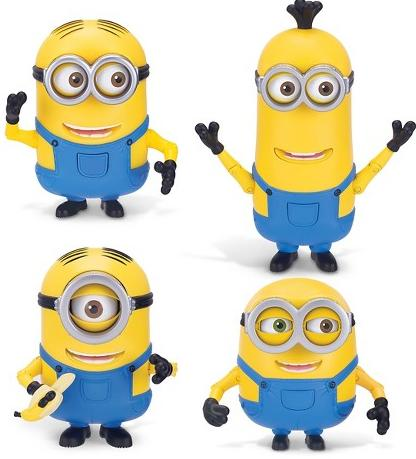 Despicable Me Minion Deluxe Action Figures Set- 4 Piece