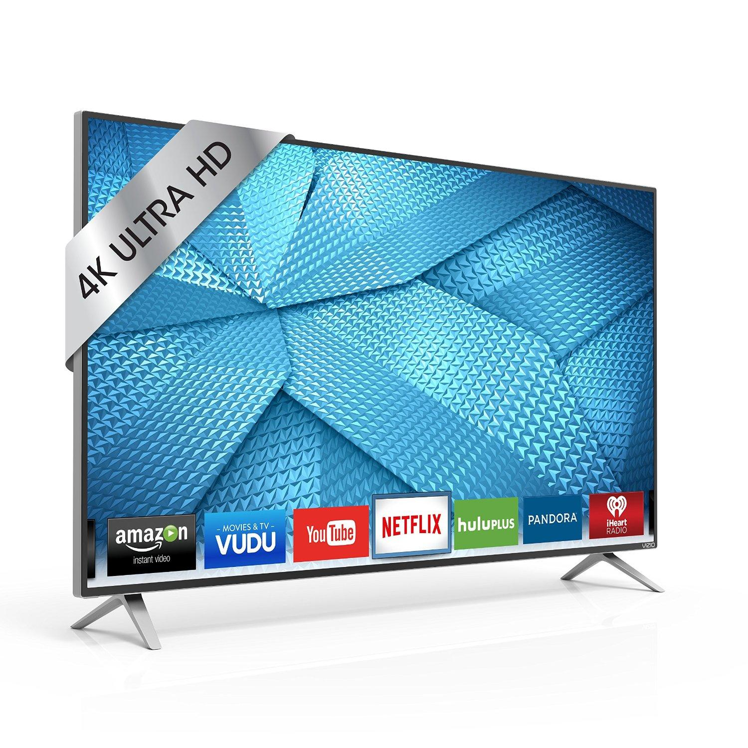 $398 VIZIO M43-C1 43-Inch 4K Ultra HD Smart LED TV (2015 Model)