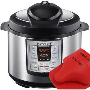 $79.00 LATEST MODEL Instant Pot IP-LUX60-ENW Stainless Steel 6-in-1 Pressure Cooker with Mini Mitts: Appliances : Walmart.com