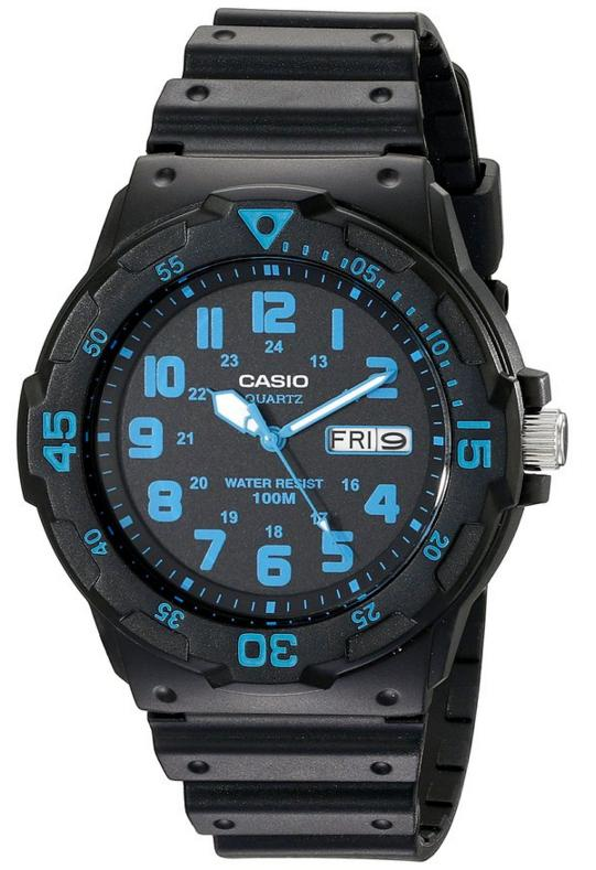 $10.08 Casio Unisex MRW200H-2BV Neo-Display Black Watch with Resin Band