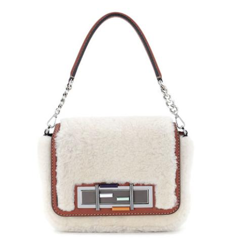 Fendi  3Baguette Shearling Fur Shoulder Bag @ Bergdorf Goodman