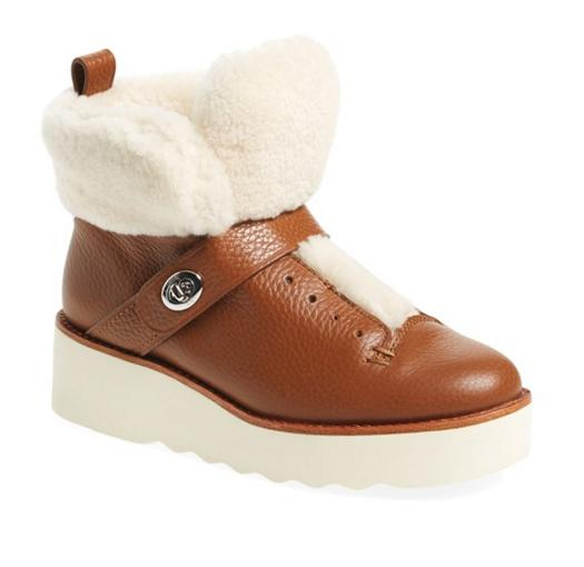 COACH 'Urban Hiker' Genuine Shearling Boot (Women)