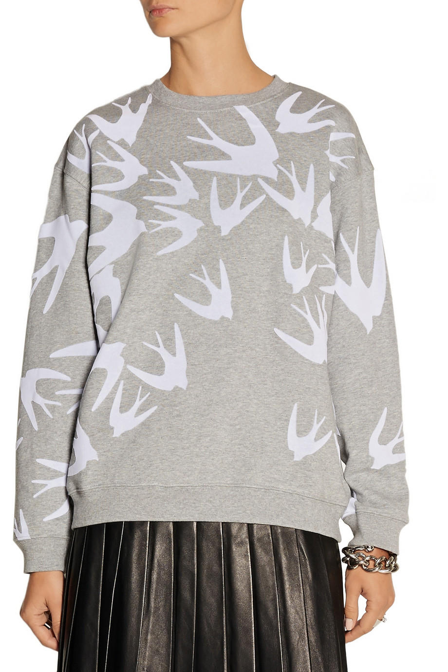 MCQ ALEXANDER MCQUEEN Flocked cotton sweatshirt @ The Outnet