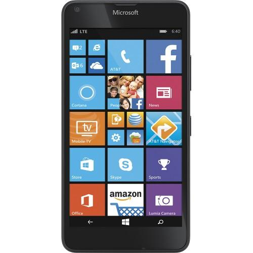 $29.99 AT&T GoPhone - Microsoft Lumia 640 4G LTE with 8GB Memory No-Contract Cell Phone - Black