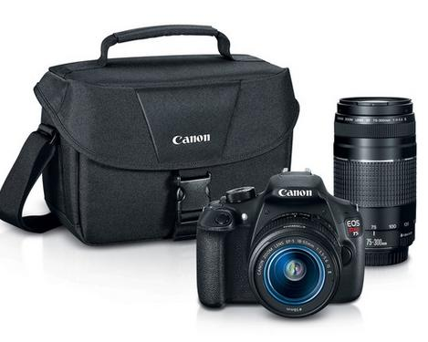 Canon EOS Rebel T5 EF-S 18-55mm IS II Lens + EF 75-300mm f/4-5.6 III Lens Kit