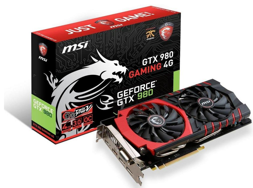$429.99 MSI Graphics Cards GTX 980 GAMING 4G