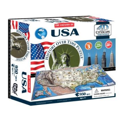 4D Cityscape USA History Time Puzzle