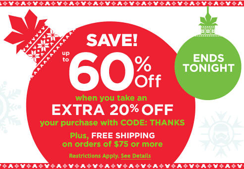 Ends Tonight! Up To 60% Off Magic Friday Sale @ Disney Store