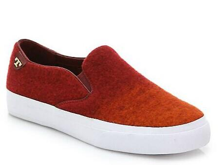 Tory Burch  Stardust Wool Felt Slip-On Sneakers @ Saks Fifth Avenue