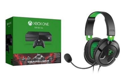 Xbox One 500GB Console - Gears of War with Ear Force Recon 50X Gaming Headset Bundle