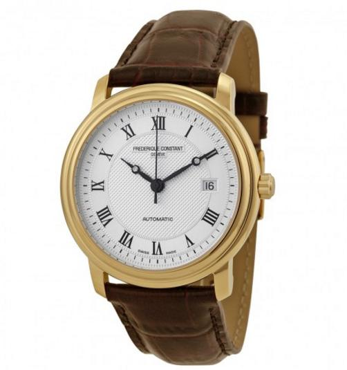 $549 Frederique Constant Classics Automatic Silver Dial Gold-Plated Men's Watch