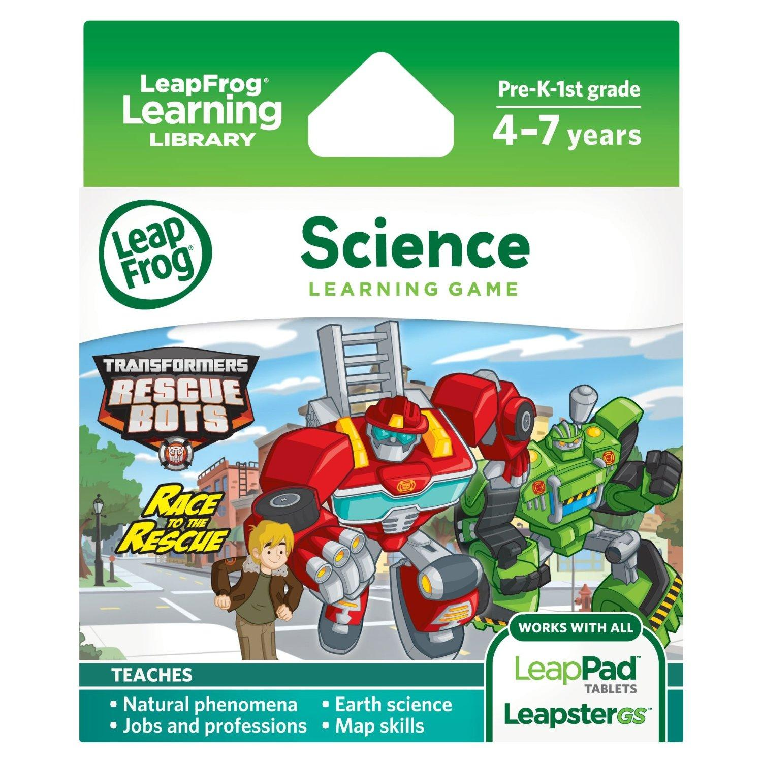 $5.38 LeapFrog Transformers Rescue Bots Race to the Rescue