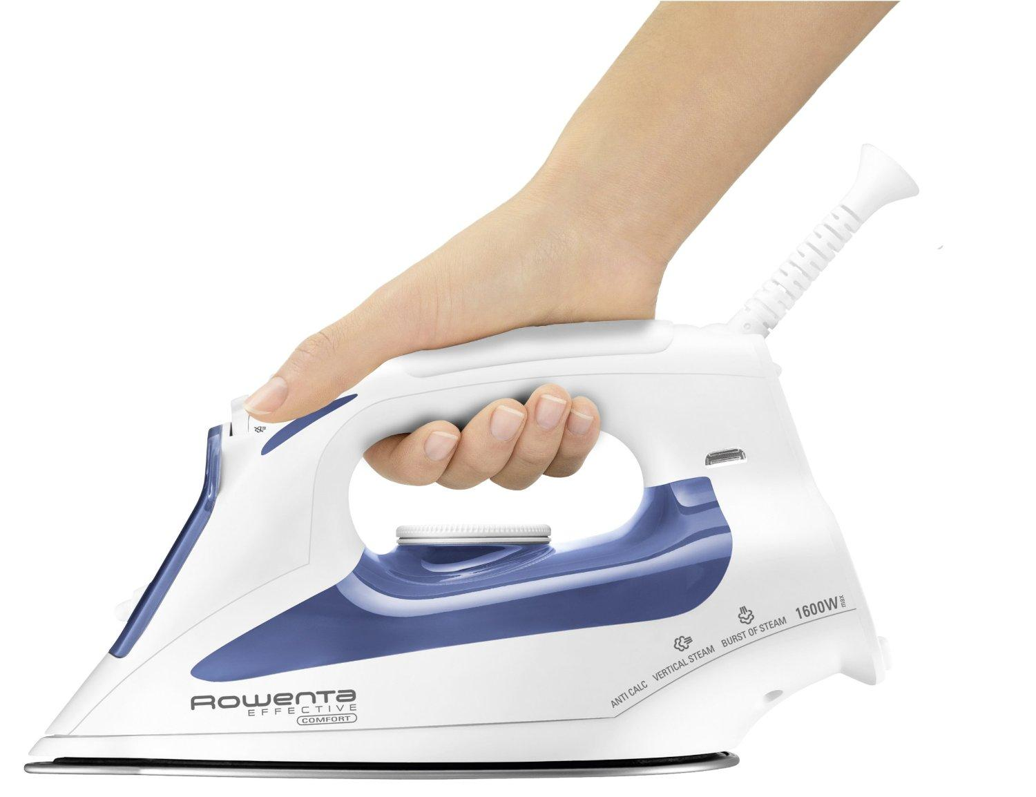 Rowenta DW2070 Effective Comfort Auto Shut Off 300-Hole Stainless Steel Soleplate Steam Iron
