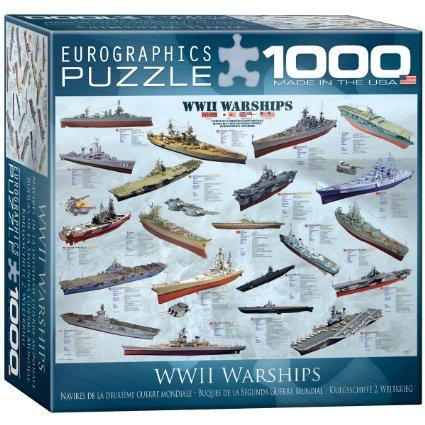 $9 EuroGraphics WWII War Ships Puzzle (Small Box) (1000-Piece)