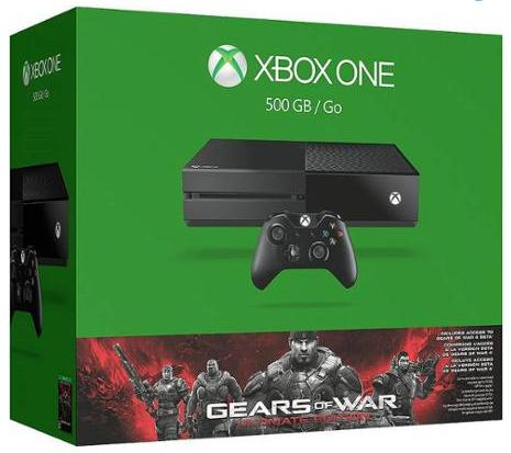 $299 Xbox One White 500GB Gears of War Special Edition Console Bundle