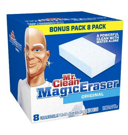 $5.97 Mr. Clean Magic Eraser Cleaning Pads, 8-Count Box