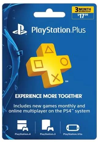 $10 Sony PlayStation Plus 3 Month