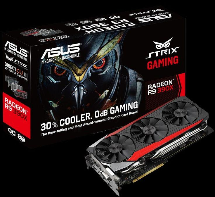ASUS Radeon R9 390X DirectX 12 STRIX-R9390X-DC3OC-8GD5-GAMING 8GB 512-Bit GDDR5 PCI Express 3.0 HDCP Ready Video Card