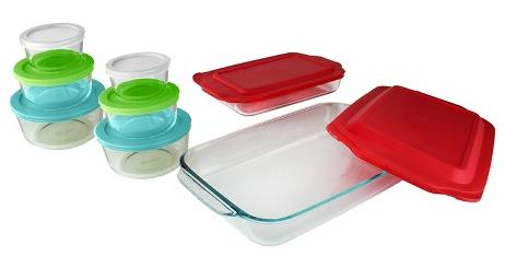 $18.00 Pyrex Bake N' Store 18 piece set