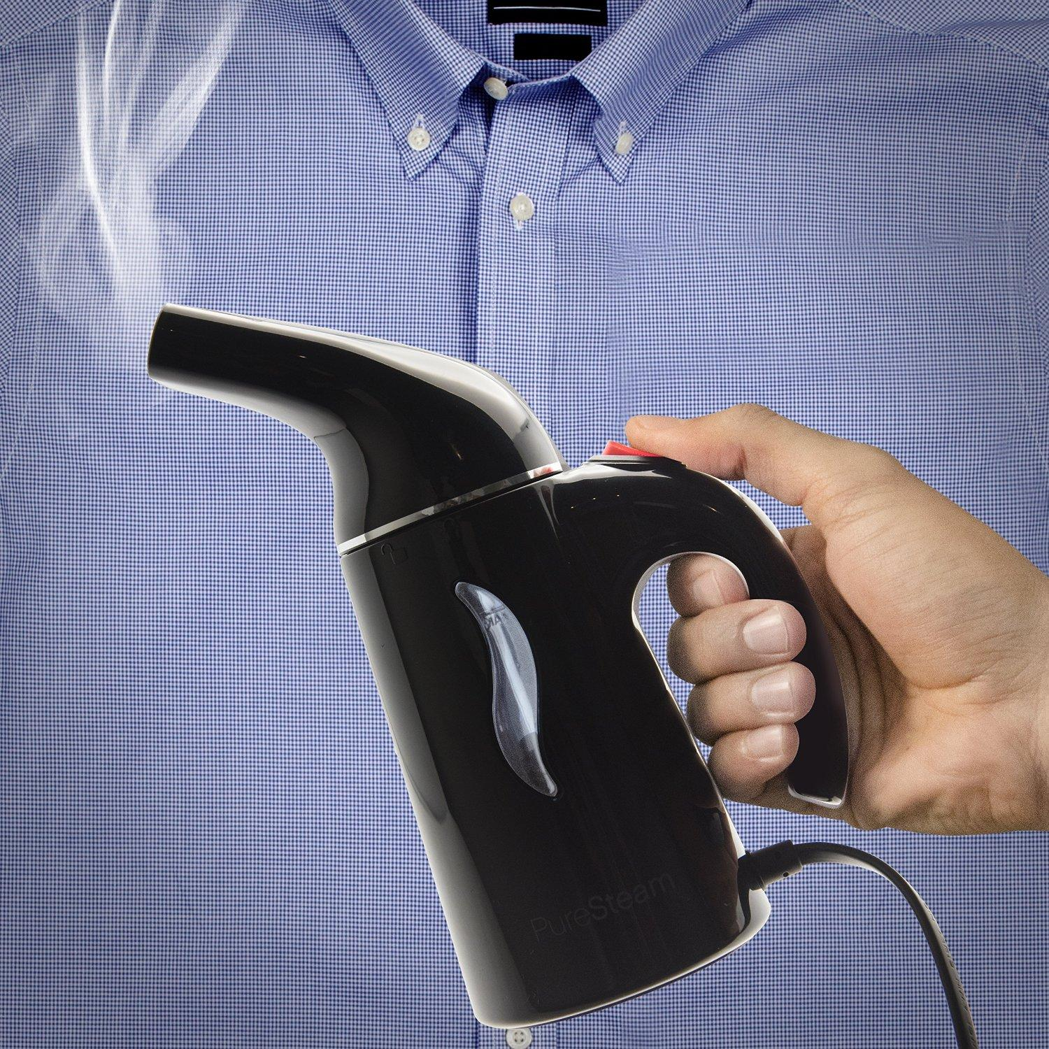 PureSteam Portable Fabric Steamer - Fast-Heating, Handheld Design Perfect for Home and Travel