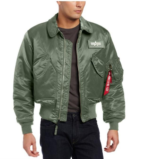 $56.29 Alpha Industries Men's CWU 45/P Flight Jacket, Gun Metal