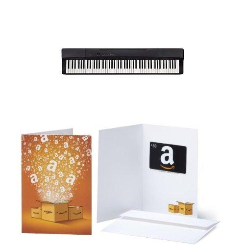 Casio Privia PX160BK 88-Key Full Size Digital Piano with $100 in Amazon.com Gift Cards