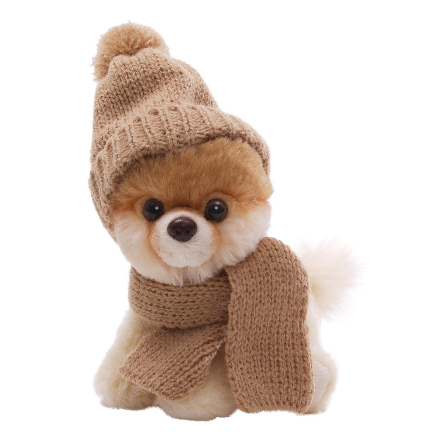 """Gund 5"""" Itty Bitty Boo in Knit Scarf and Cap Plush"""