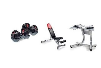 $259.99 BowflexSelectTech 552 Adjustable Dumbbells (Pair), Series 3.1 Bench, and Stand