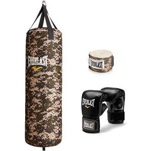Everlast 70 lb Heavy Bag Kit, Camo