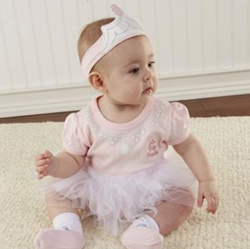 Baby Aspen 'Big Dreamzzz - Princess' Bodysuit, Sock & Headband (Baby)