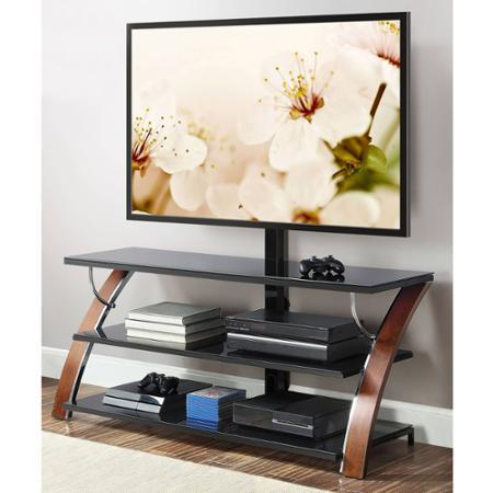 """$119.98 Whalen Brown Cherry 3-in-1 Flat Panel TV Stand for TVs up to 65"""""""