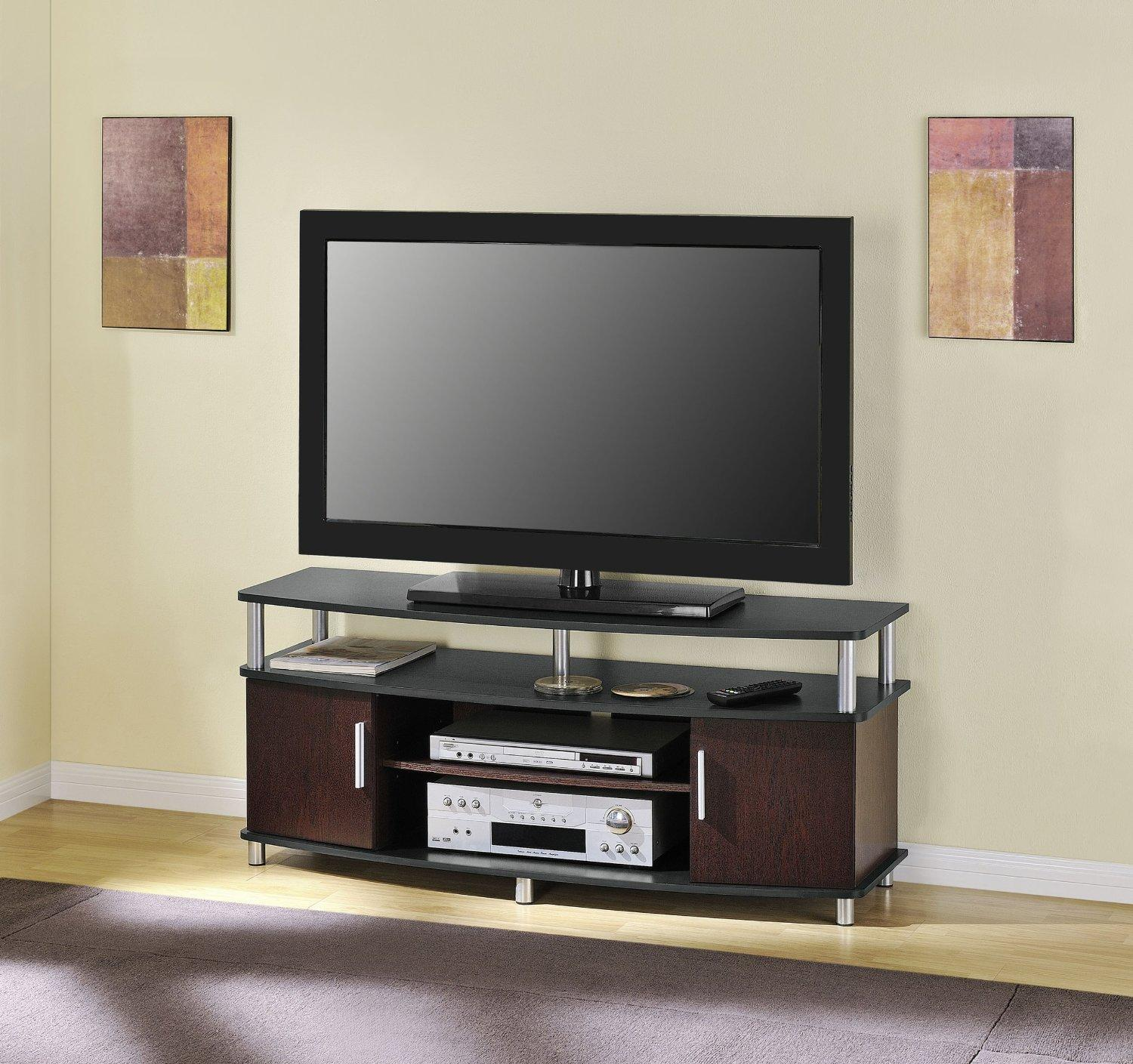 Altra Furniture Carson TV Stand, For TV's up to 50-Inches, Black/Cherry