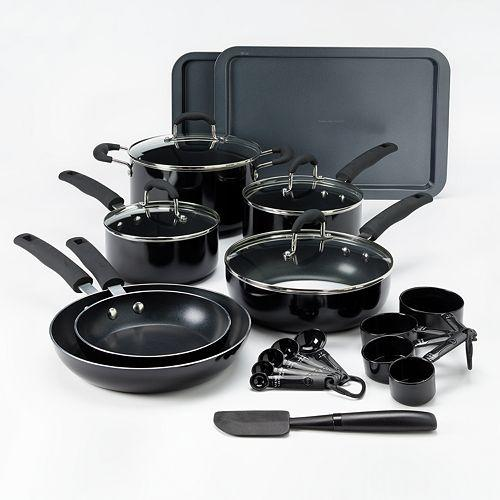 Food Network 22-pc. Nonstick Aluminum Cookware Set