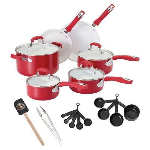 Guy Fieri 21-pc. Ceramic Nonstick Cookware Set -  3 Colors