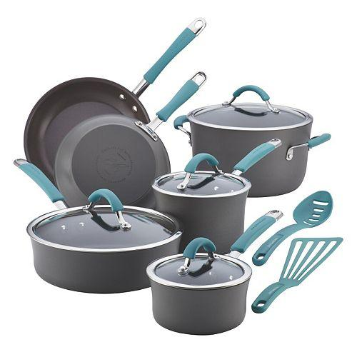 $95.99 + $30 Kohl's Cash Rachael Ray Cucina 12-pc. Hard-Anodized Nonstick Cookware Set