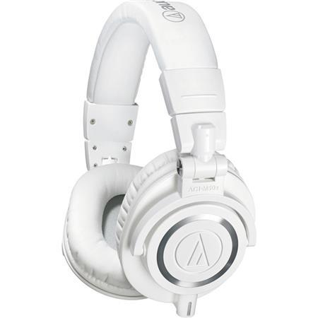 Audio-Technica ATH-M50x Professional Monitor Headphones, White ATH-M50XWH