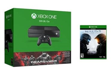 Xbox One 500 GB Console Includes Gears of War + Halo 5 + Halo Dual Charging Station