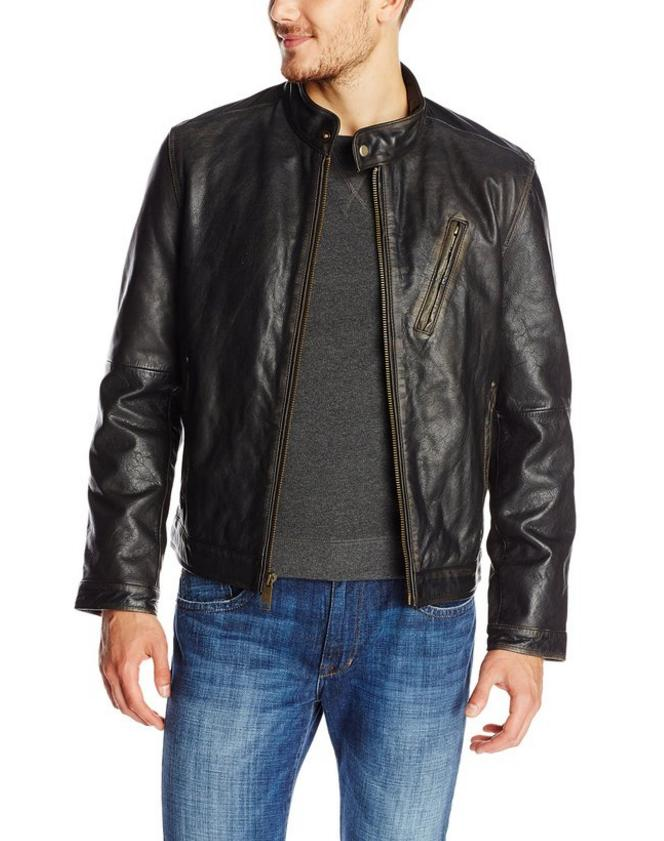 $102.16 Marc New York by Andrew Marc Men's Radford Distressed-Leather Jacket
