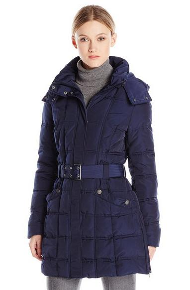 Tommy Hilfiger Women's Long Classic Down-Filled Belted Coat