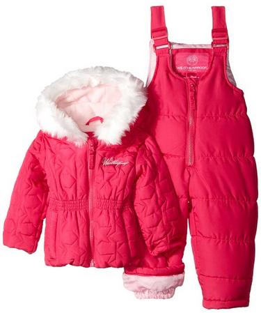 Weatherproof Baby-Girls Infant Snowsuit and Star-Quilted Coat