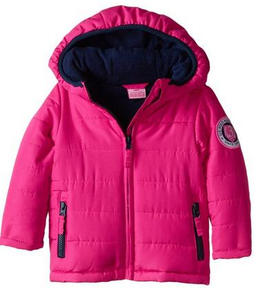 US Polo Association Baby Girls' Warm Bubble Jacket