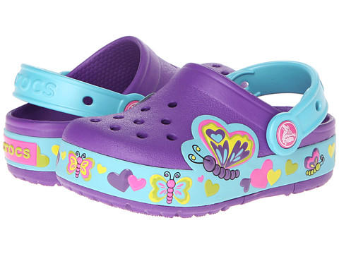 Crocs Kids CrocsLights Lighted Butterfly Clog (Toddler/Little Kid)