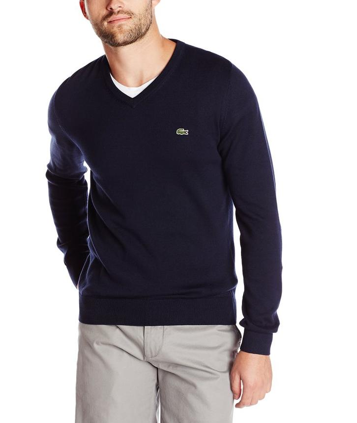 Lacoste Men's Classic Long-Sleeve Cotton Sweater