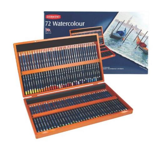 $84.99 Derwent Watercolor Colored Pencils, 72 Watercolour, 3.4mm Core, Wooden Box, 72 Count (32891)