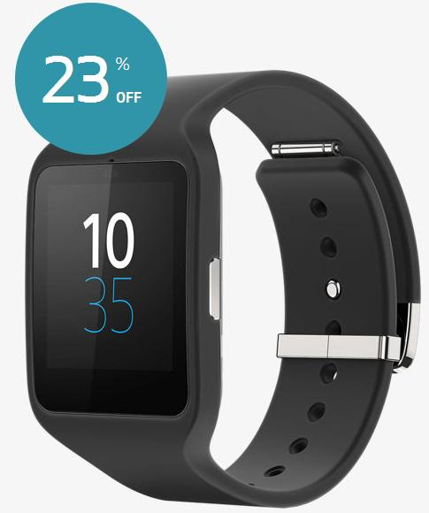 Sony SmartWatch 3 Android Wear Waterproof IP68 GPS Bluetooth NFC